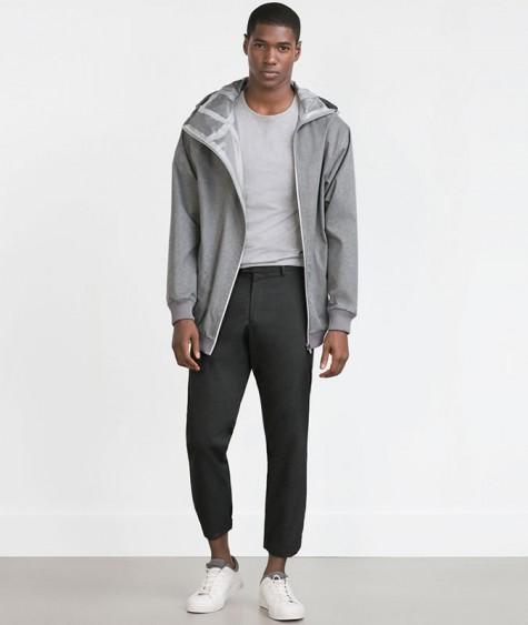 áo thun nam - elle man-grey
