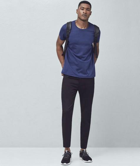 áo thun nam - elle man-navy blue