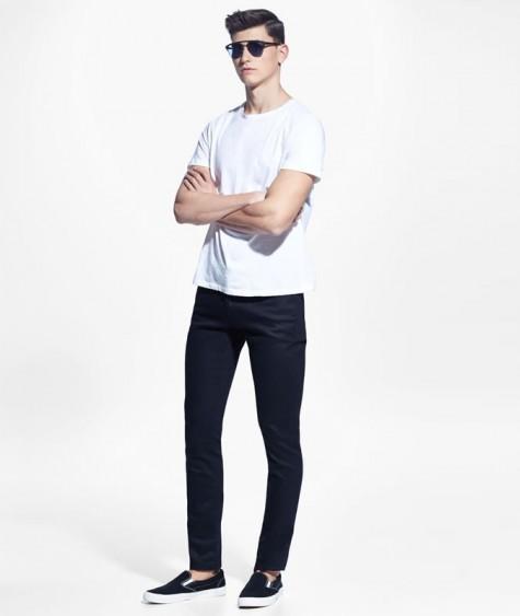 áo thun nam - elle man- white