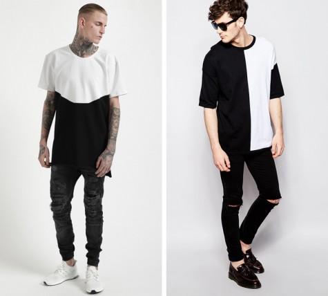 áo thun nam - oversized block t-shirt