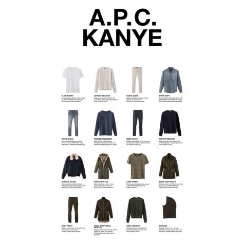 6 cái bắt tay tuyệt vời nhất trong thế giới thời trang - Kanye x APC - elleman 5