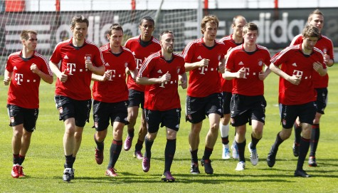 Một buổi tập luyện của đội bóng Bayern Munich