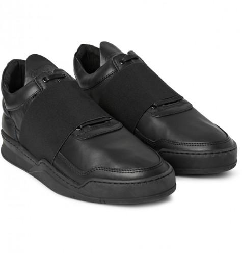 giày dép nam Hè 2016 - Velcro & Straps - Filling Pieces elastic-trimmed leather sneakers - elleman
