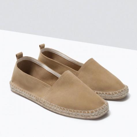 giày dép nam Hè 2016 -espadrilles - Zara sueded espadrilles - elleman