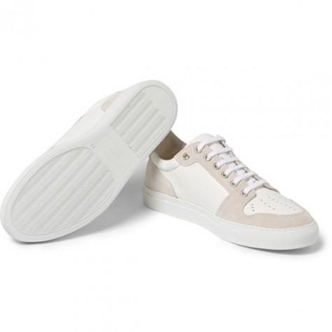 giày dép nam Hè 2016 - monochromes - •Ami suede and textured-leather sneakers - elleman