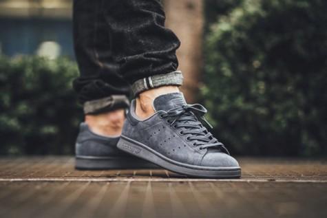 giày dép nam Hè 2016 - monochromes - adidas Stan Smith Onix - elleman