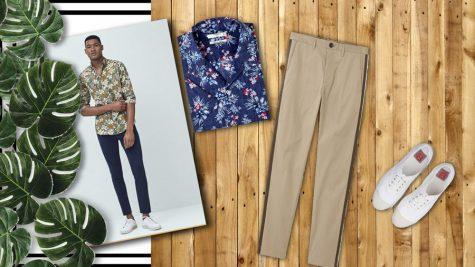 Thời trang Hè 2016 Phối đồ như một quý ông - floral shirt + chinos 2 - elle man