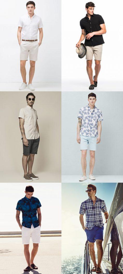 Thời trang Hè 2016 Phối đồ như một quý ông - short-sleeeves shirts + shorts - elle man