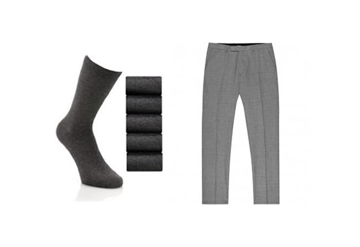 quần tây, tất vớ, giày tây nam elleman 2 - grey classic trousers 1