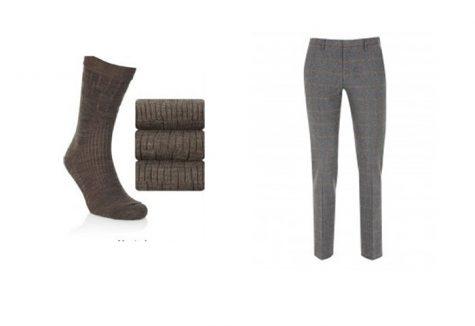 quần tây, tất vớ, giày tây nam elleman 4 - light brown socks 1