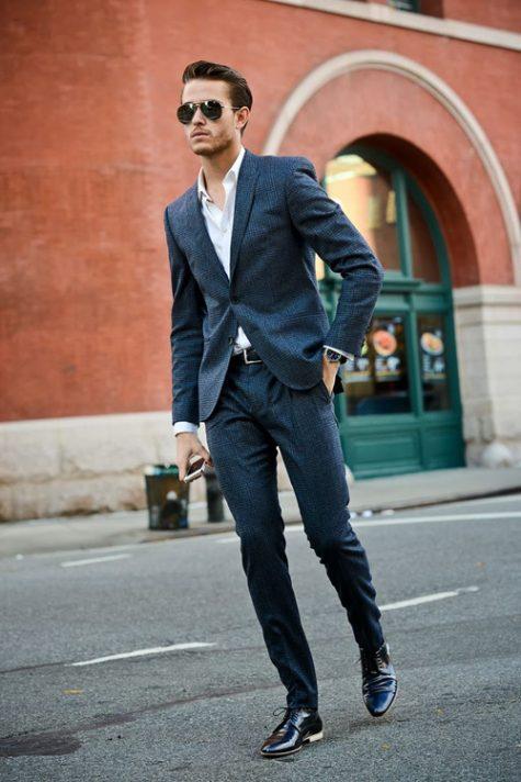 quần tây, tất vớ, giày tây nam elleman 6 - black trousers and black shoes