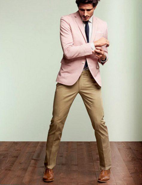 quần tây, tất vớ, giày tây nam elleman 6 - brown trousers and brown shoes