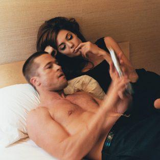 Brad Pitt và những khung ảnh về Angie - elle man 26