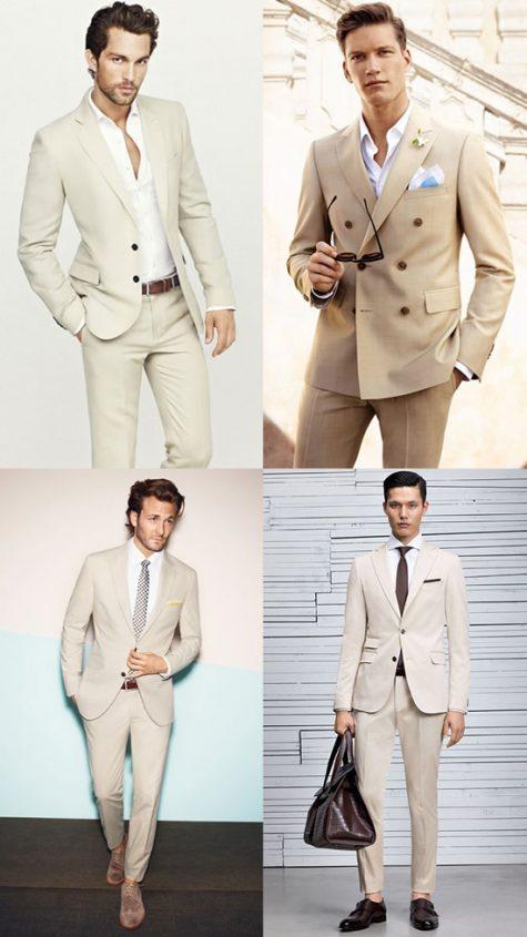 5 phong cách thời trang cực chất phối cùng màu trung tính - beige suits + white shirt - elle man