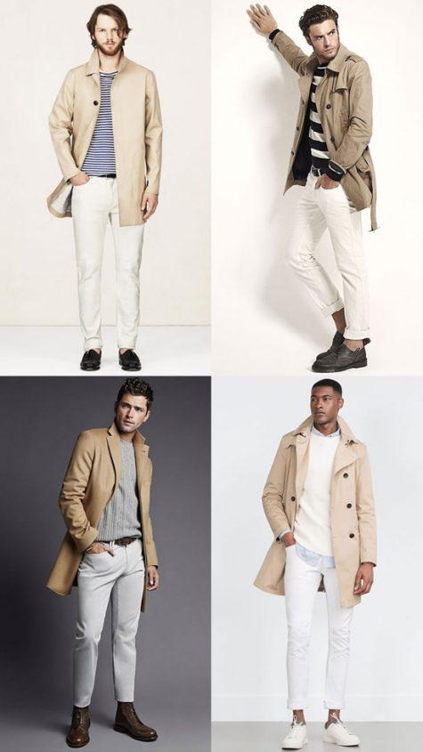 5 phong cách thời trang cực chất phối cùng màu trung tính - camel jacket + white jeans - elle man