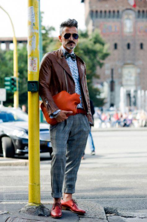 5 phong cách thời trang cực chất phối cùng màu trung tính - tan jacket + grey trousers 2 - elle man