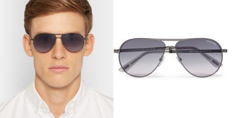 5 lỗi phong cách thời trang cần tránh trong mùa Hè - TOM FORD Marko Aviator-Style Gunmetal And Acetate Sunglasses £191.67 - elle man