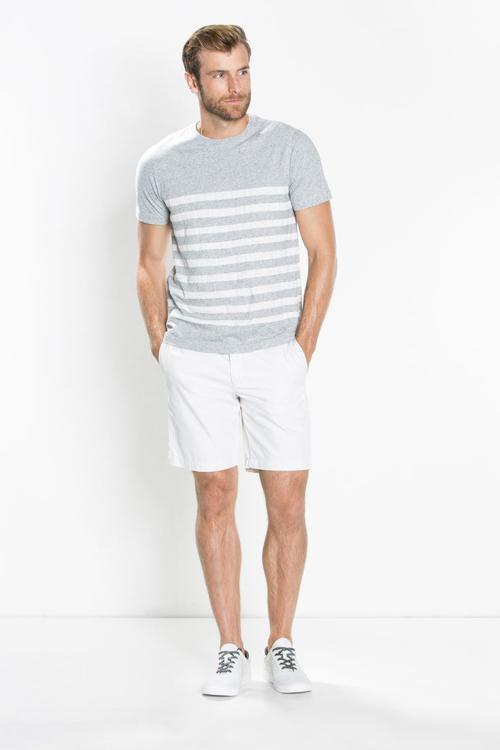 quần short nam - chinos + áo breton 2 - elle man