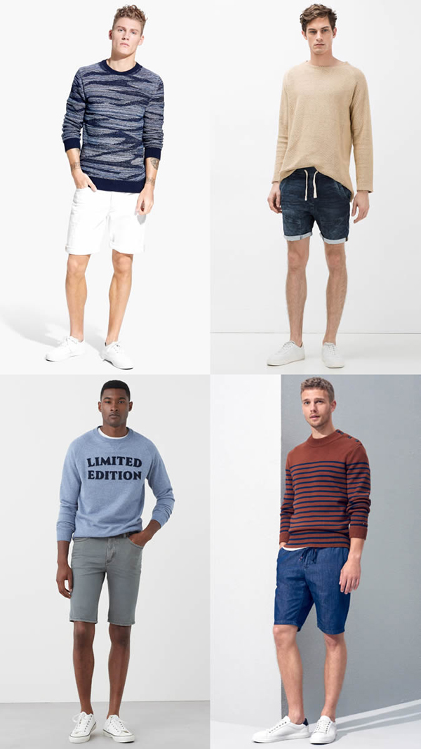 quần short nam - jeans + áo thun - elle man