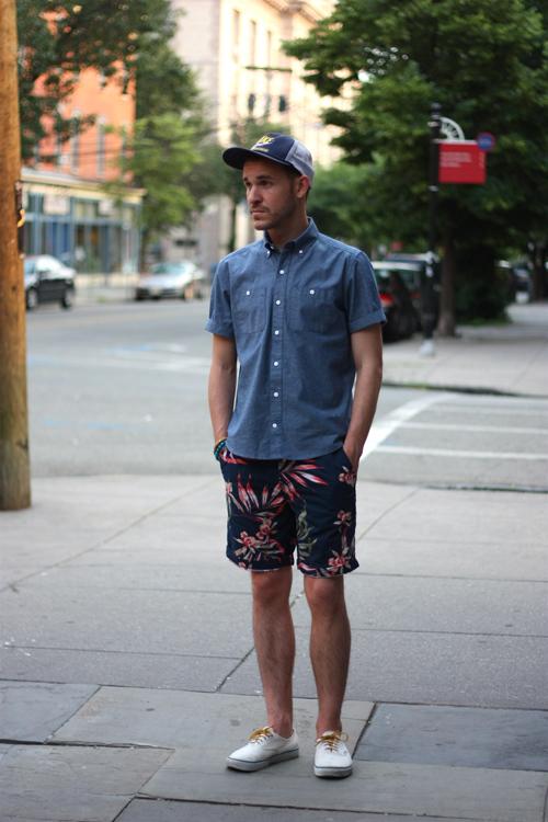 quần short nam - printed short 1 - elle man