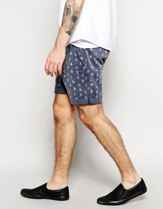 quần short nam - printed short 2 - elle man