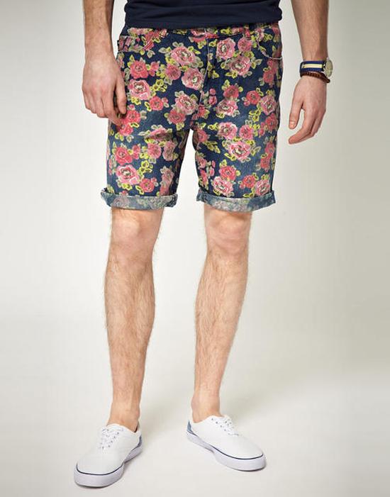 quần short nam - printed short 5 - elle man