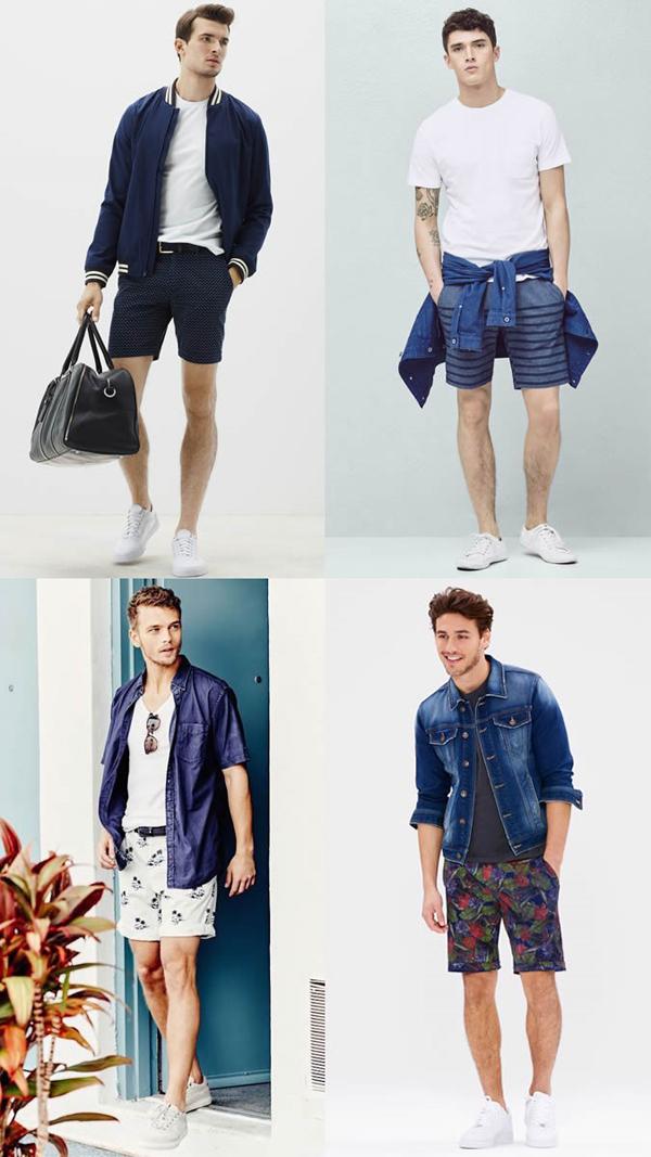 quần short nam - printed short 7 - elle man