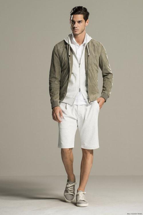 quần short nam - sweat + áo thun 4 - elle man