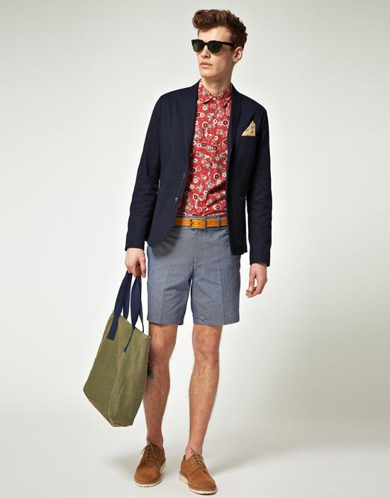 quần short nam - tailored short + áo thun,sơ mi 1 - elle man