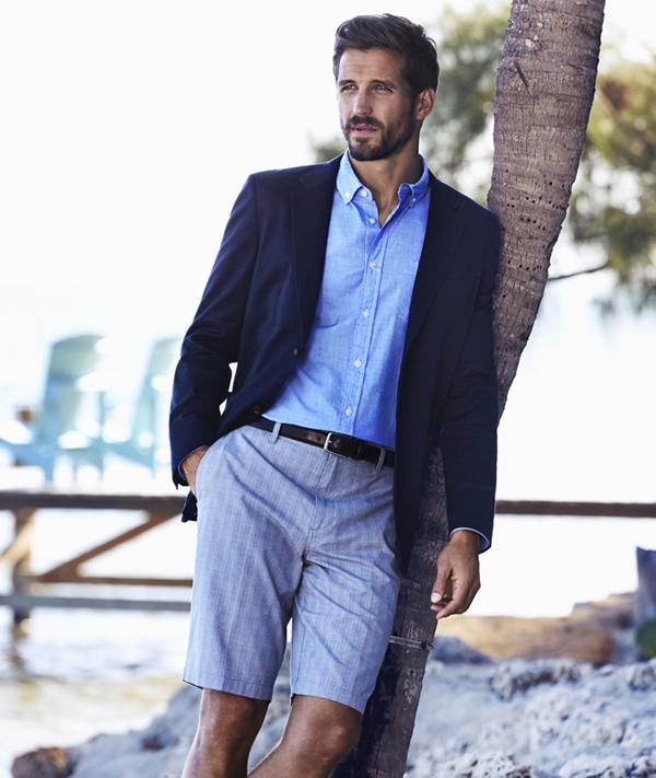 quần short nam - tailored short + áo thun,sơ mi 2 - elle man