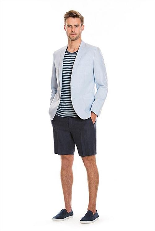 quần short nam - tailored short + áo thun,sơ mi 3 - elle man