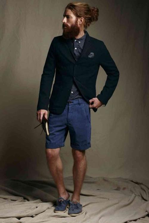 quần short nam - tailored short + áo thun,sơ mi 4 - elle man