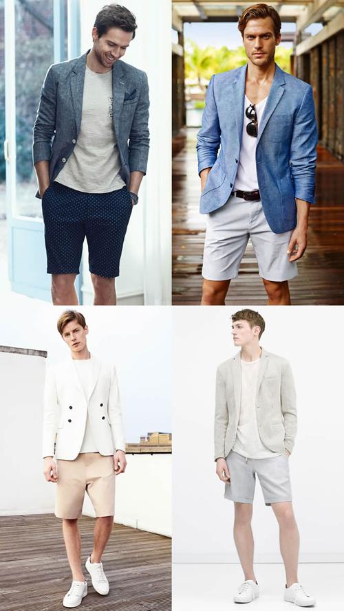 quần short nam - tailored short + áo thun,sơ mi 5 - elle man