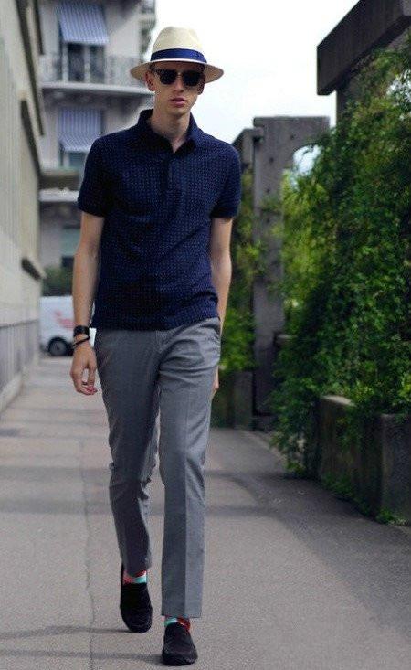 4 kiểu quần nam đẹp nên thử ngoài skinny jeans - quần tây + polo - elle man 1