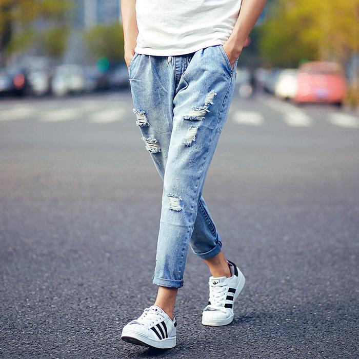 quan jeans nam - jeans ong rong - elle man 2
