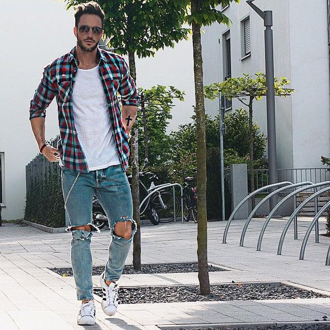 quan jeans nam - jeans rach - elle man 2