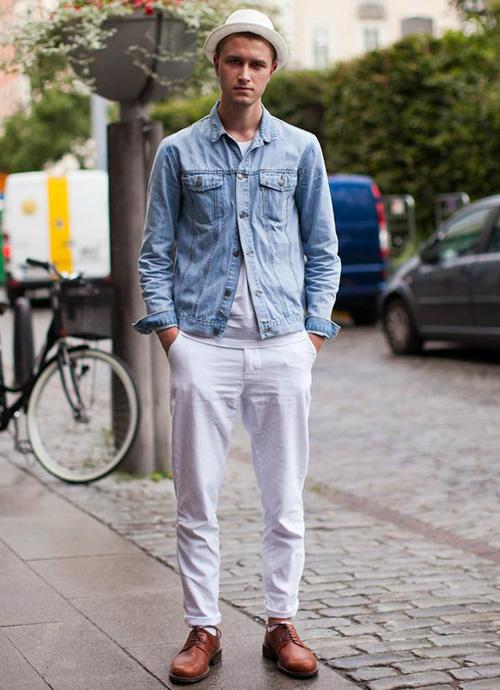 quan jeans nam - jeans trang - elle man 1