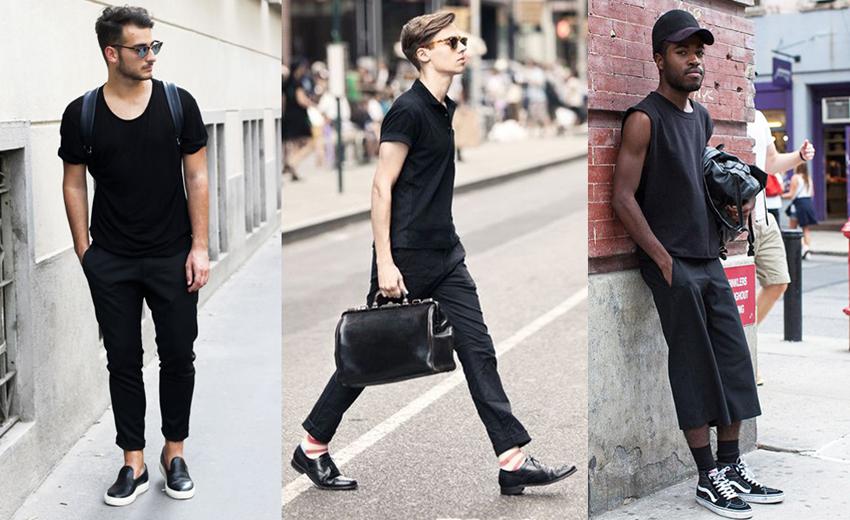 phong cach thoi trang all-black - giày - elle man 1