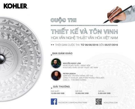 Giải thưởng KOHLER - Thiết kế và tôn vinh hoa văn nghệ thuật văn hóa Việt Nam