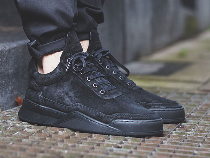 5 kieu giay the thao - all-black - Filling Pieces Waxed-Nubuck - elle man