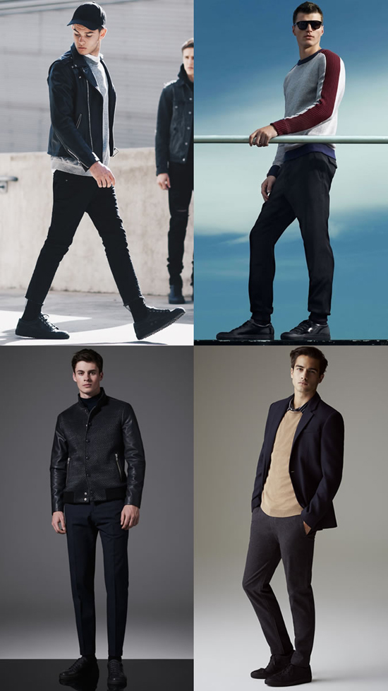 5 kieu giay the thao - all-black - elle man