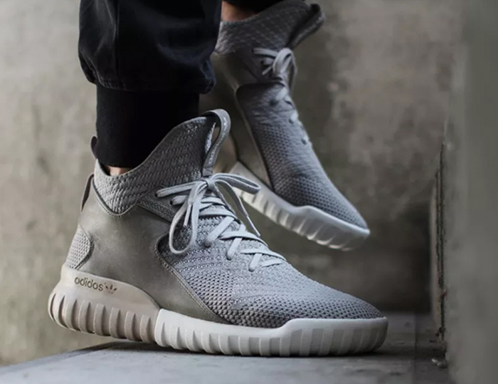 5 kieu giay the thao - basket-ball - adidas Tubular X grey primeknit- elle man