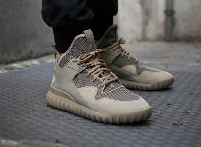 5 kieu giay the thao - basket-ball - adidas Tubular X sand color- elle man