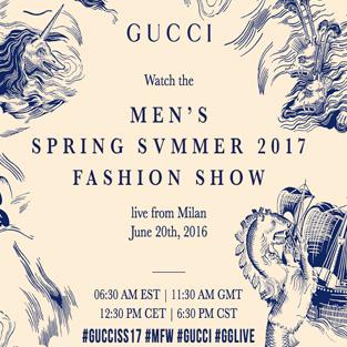 Show diễn thời trang Gucci dành cho nam giới Xuân – Hè 2017