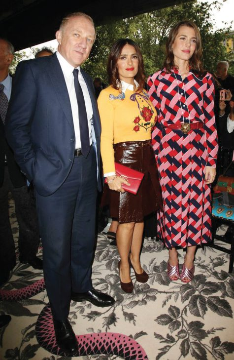 Francois-Henri Pinault và vợ Selma Hayek tại show diễn Gucci