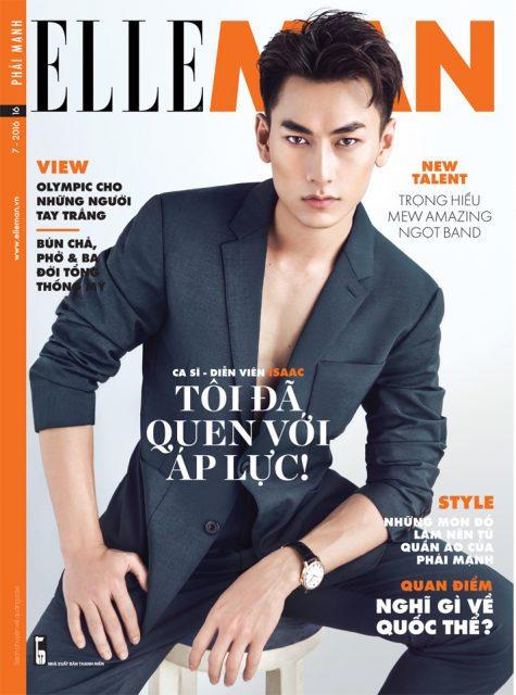 Bìa ELLE Man số tháng 7/2016