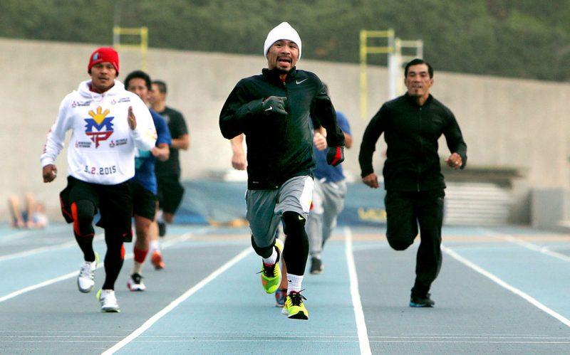 7 bí quyết đấu quyền Anh của Manny Pacquiao, chạy bộ.