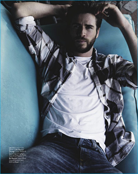 phong cach thoi trang Liam Hemsworth - flannel 3 - elle man