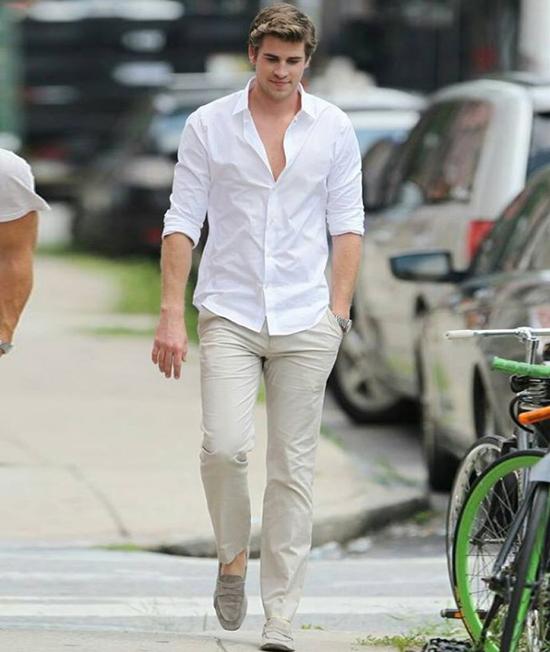 phong cach thoi trang Liam Hemsworth - neutral tones 1 - elle man