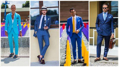 Suit nam màu xanh, mặc sao cho đẹp?